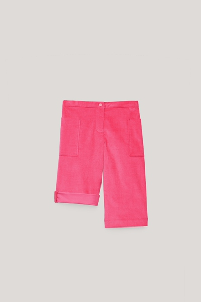 COS hover image 3 of 핑크 in 벨벳 와이드 레그 트라우저