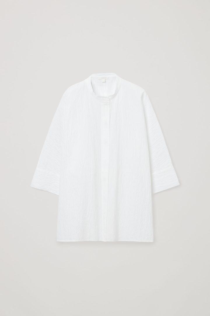 COS hover image 6 of 화이트 in 시어서커 셔츠
