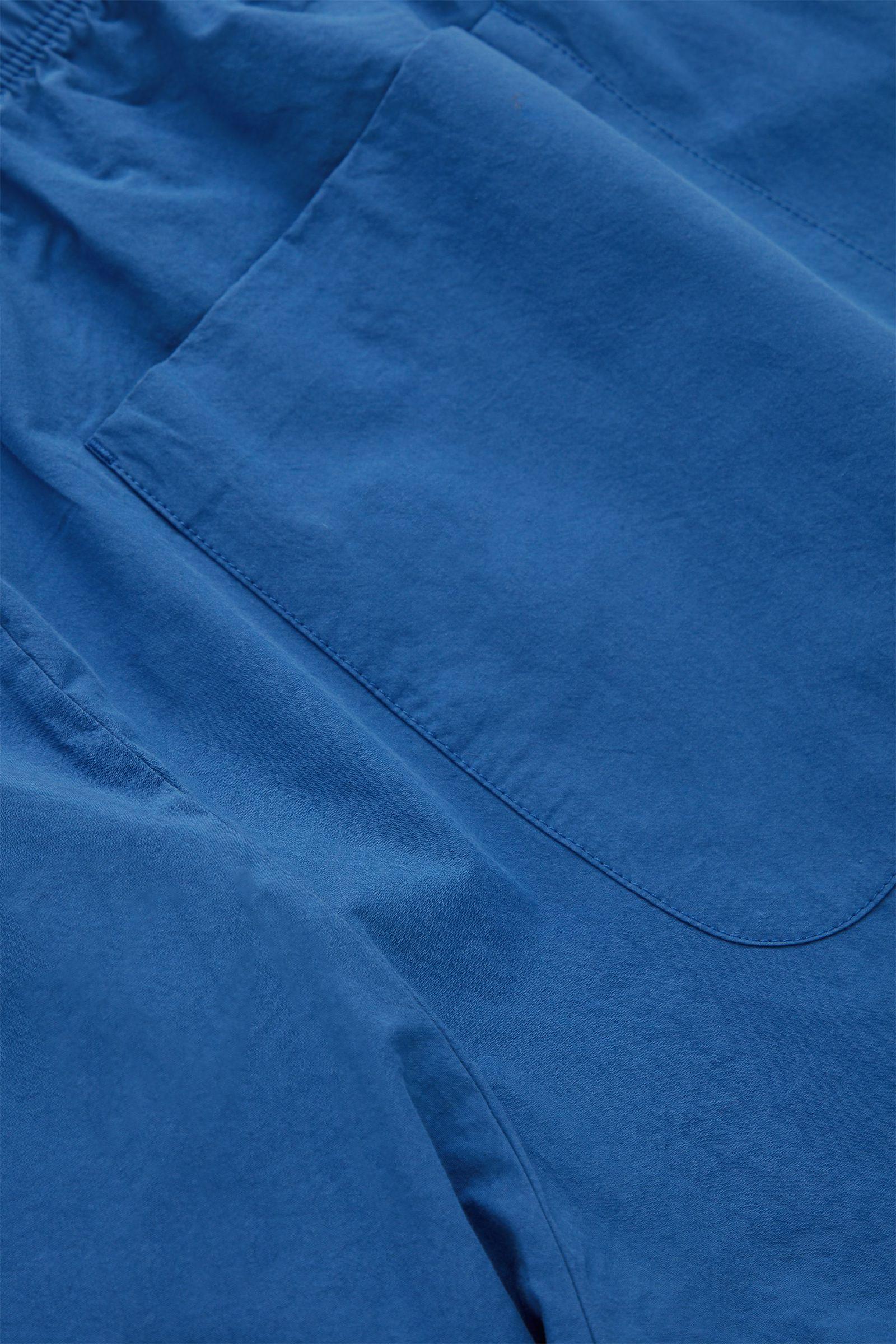 COS 드로우스트링 코튼 쇼츠의 블루컬러 Detail입니다.