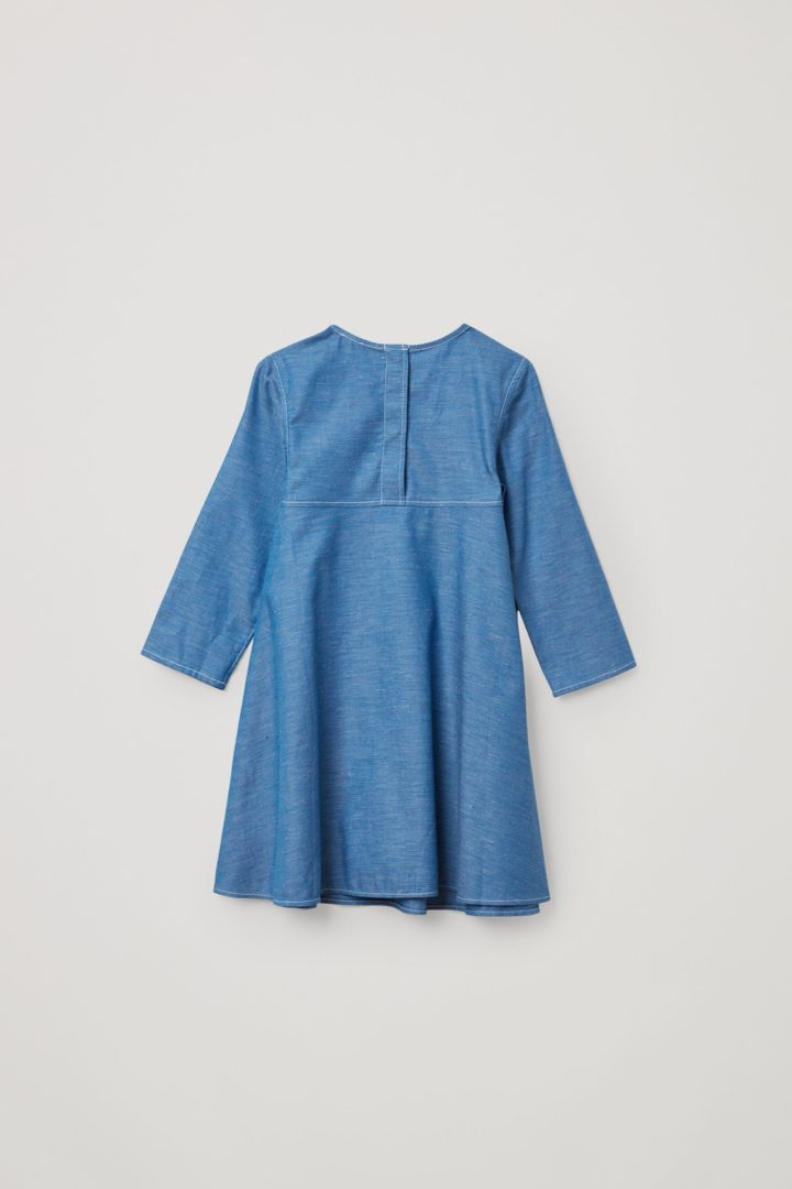 COS A라인 코튼 드레스의 블루컬러 Product입니다.