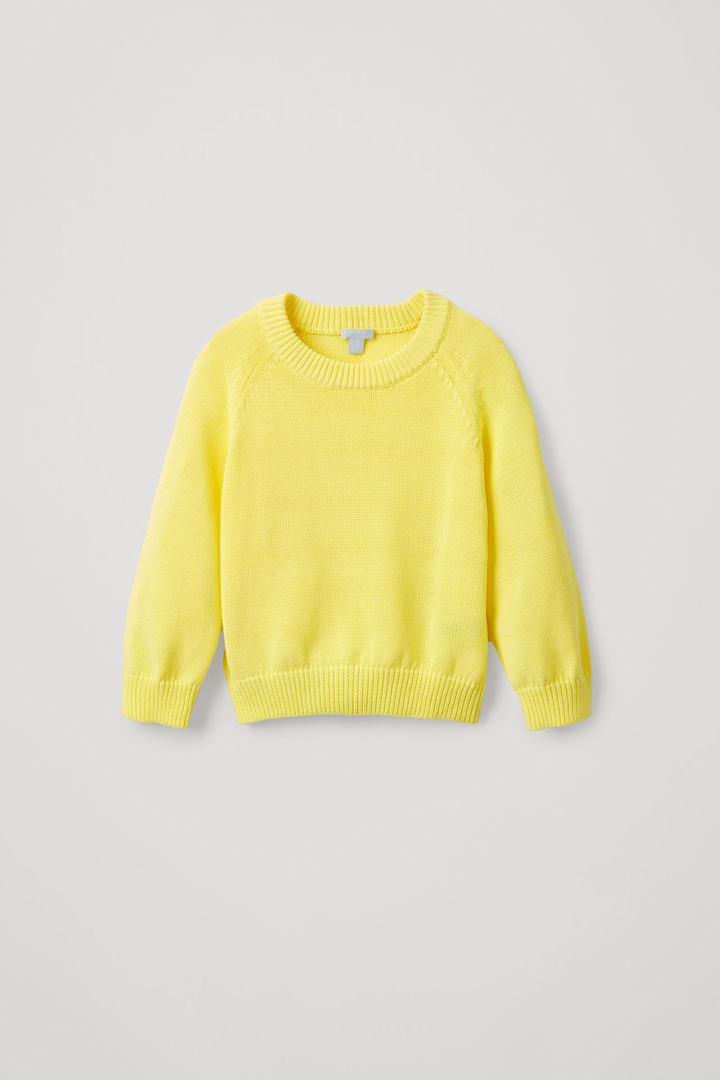 COS default image 3 of 옐로우 in 코쿤 코튼 니트 스웨터