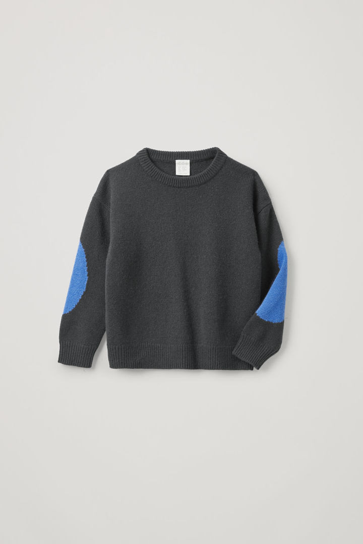 COS default image 8 of 그레이 in 인타르시아 캐시미어 스웨터