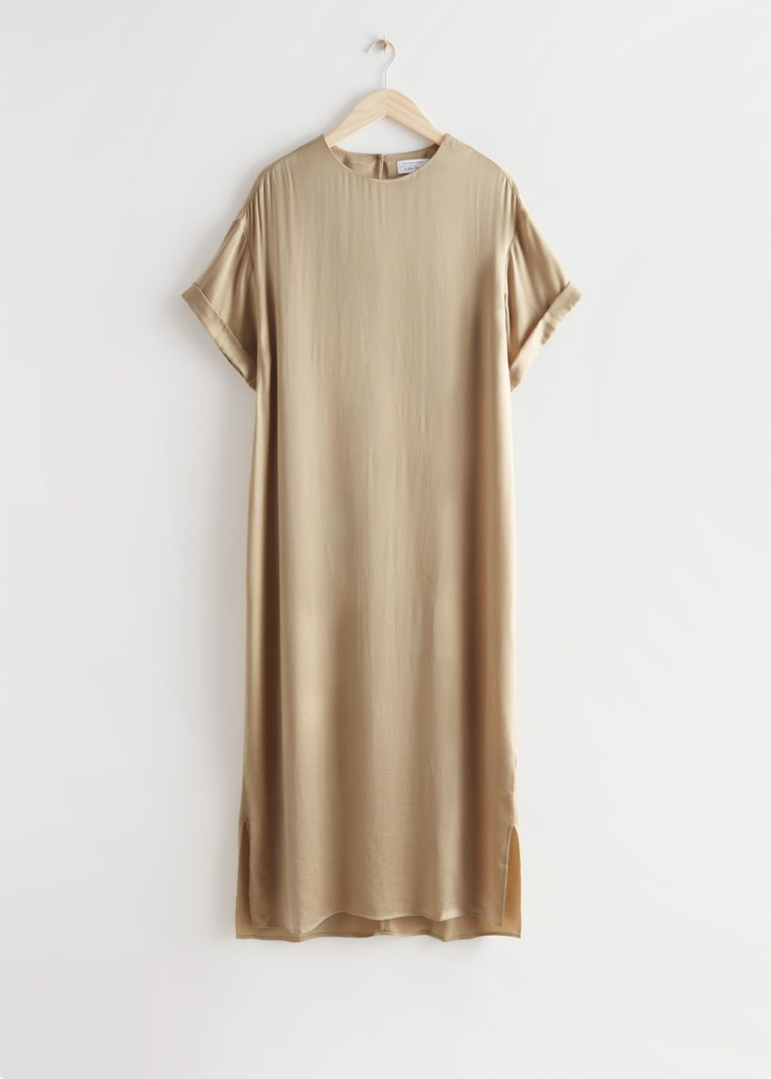 앤아더스토리즈 쿠프로 맥시 드레스의 베이지컬러 Product입니다.