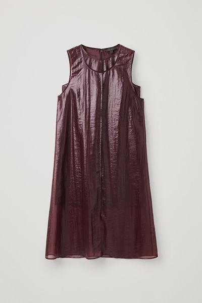 COS default image 9 of 레드 in 트랜스페어런트 더블 레이어 드레스