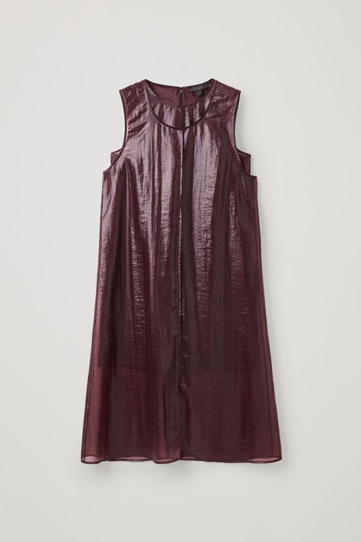 COS hover image 3 of 레드 in 트랜스페어런트 더블 레이어 드레스