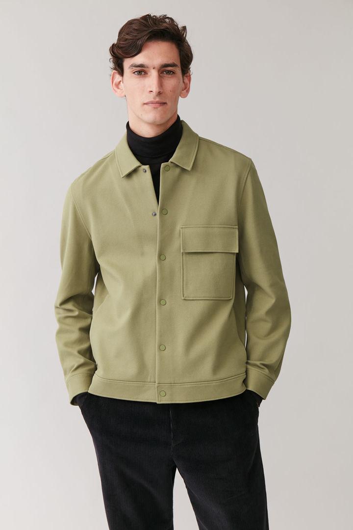COS default image 5 of 그린 in 코튼 트윌 셔츠 재킷