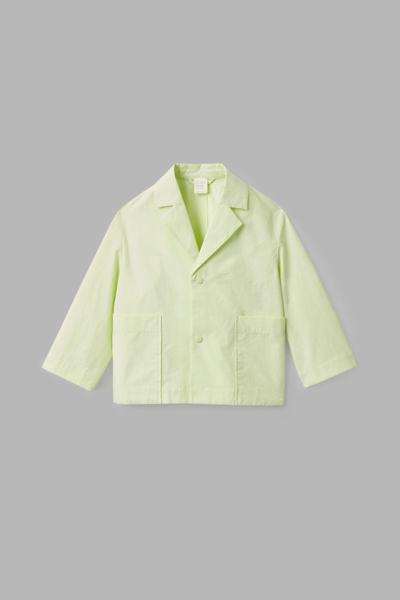 COS default image 11 of 옐로우 in 라펠 코튼 재킷