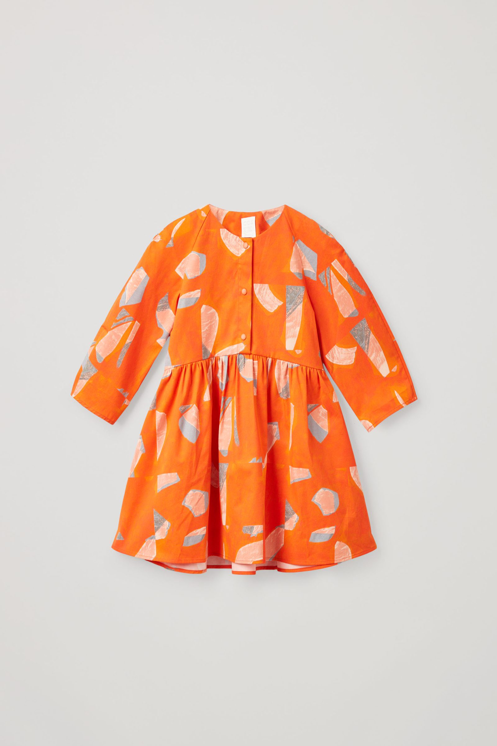 COS 프린티드 코튼 드레스의 오렌지컬러 Product입니다.