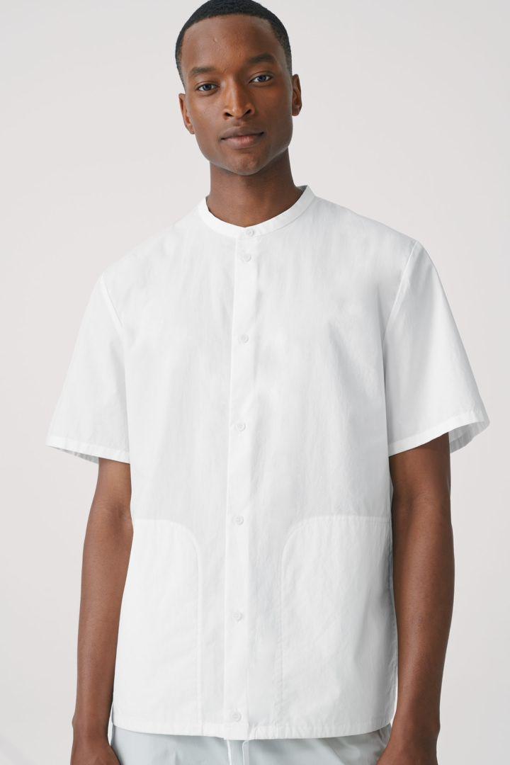 COS default image 3 of  in 드로우스트링 코튼 셔츠