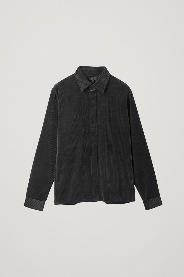 COS 코튼 코듀로이 셔츠의 블랙컬러 Product입니다.