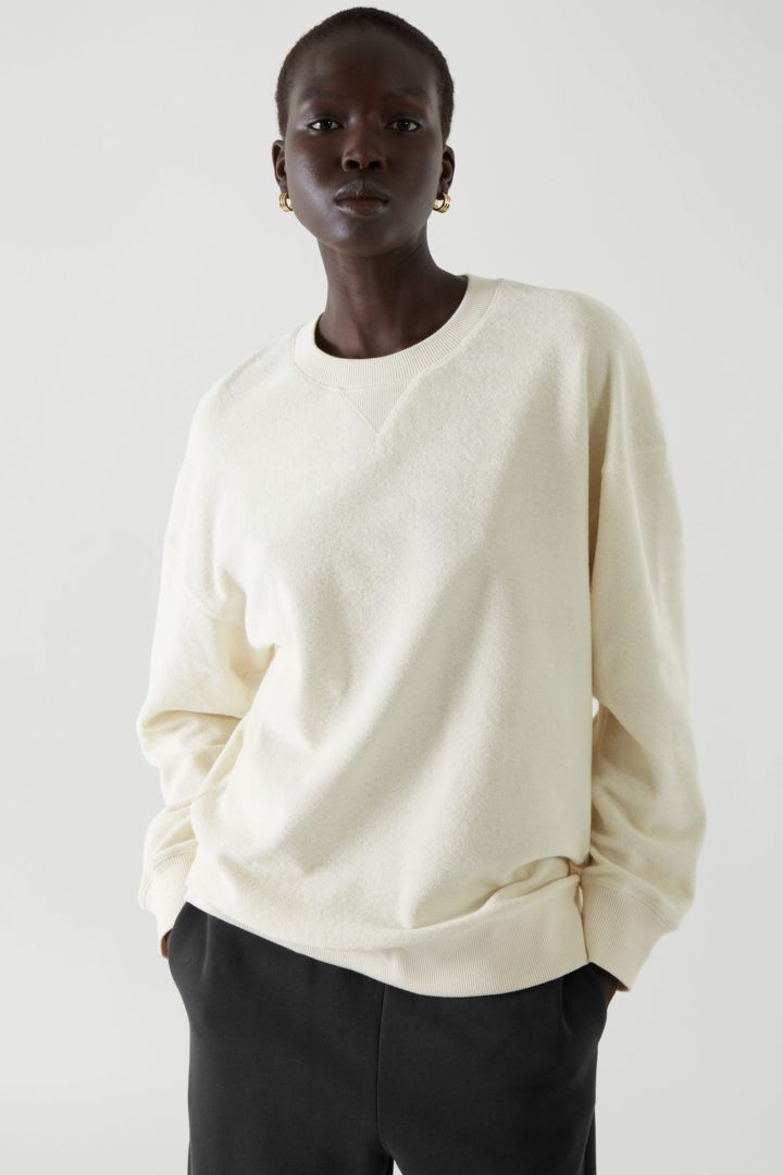 COS default image 7 of White in 테리 스웻셔츠