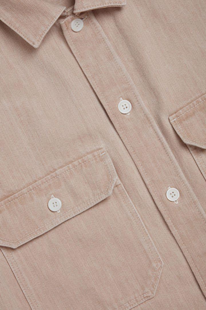COS 오가닉 코튼 데님 셔츠의 몰 그레이컬러 Detail입니다.