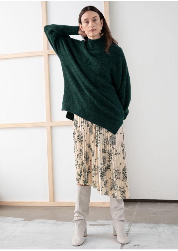 &OS image 13 of  in 오버사이즈 모크 넥 스웨터