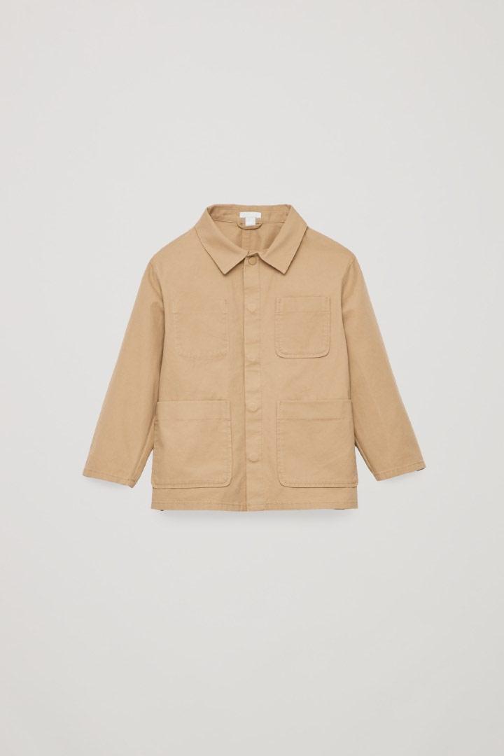 COS default image 6 of 브라운 in 코튼 셔츠 재킷