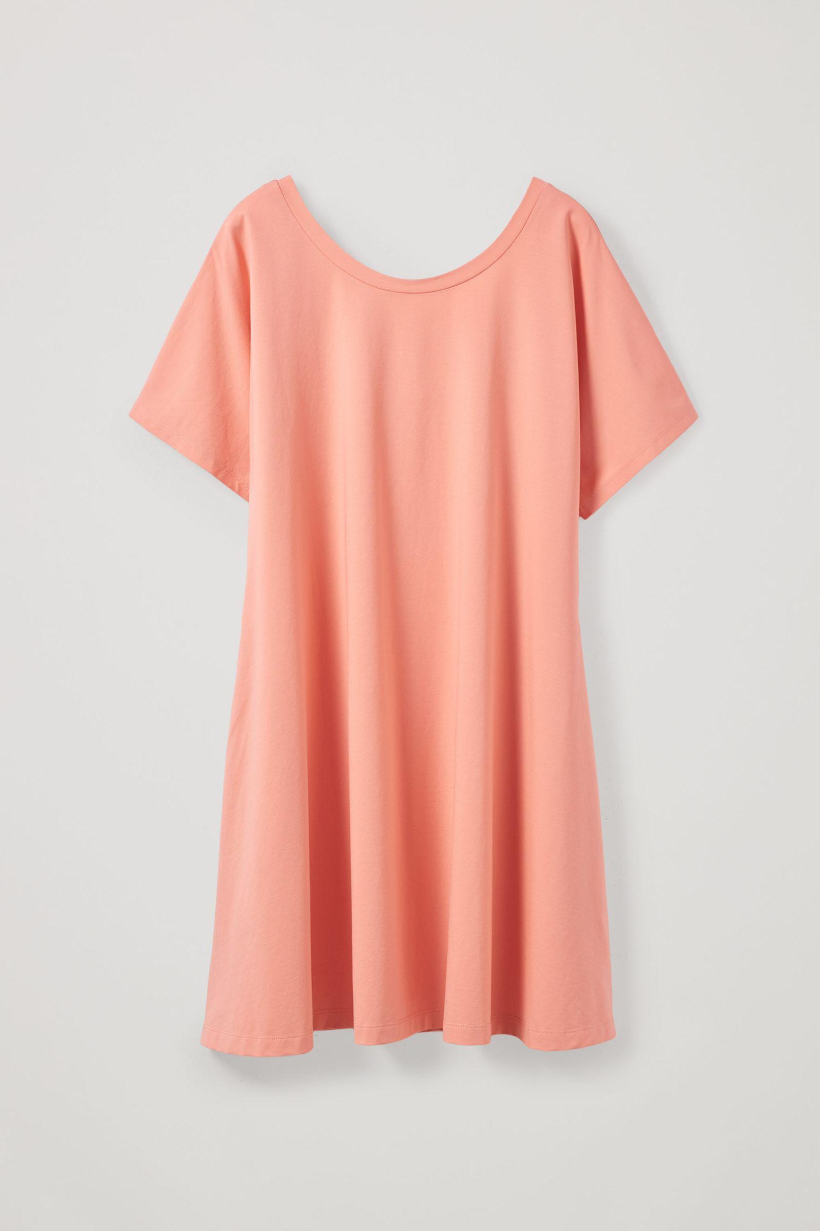 COS A라인 코튼 드레스의 핑크컬러 Product입니다.