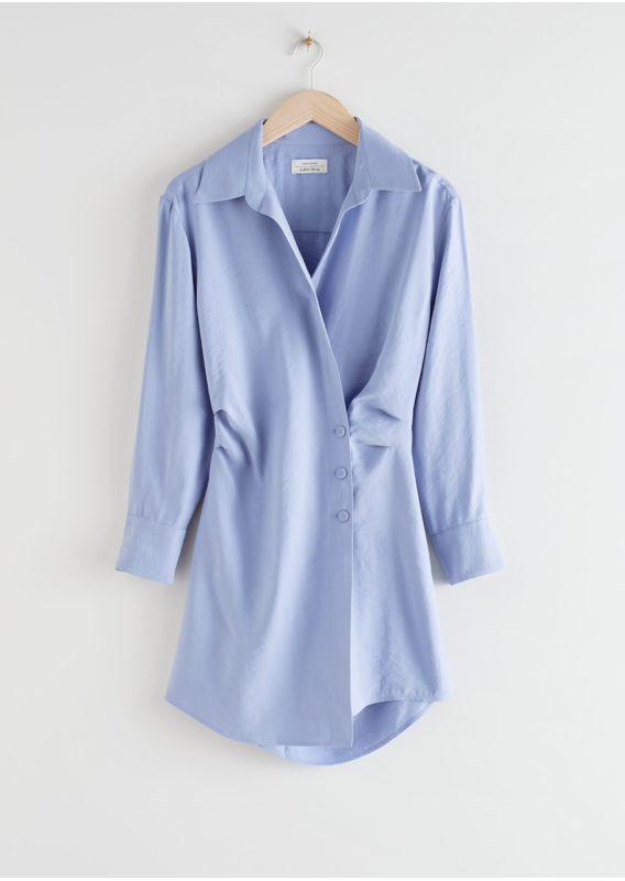 &OS image 6 of  in 에이시메트릭 미니 셔츠 드레스