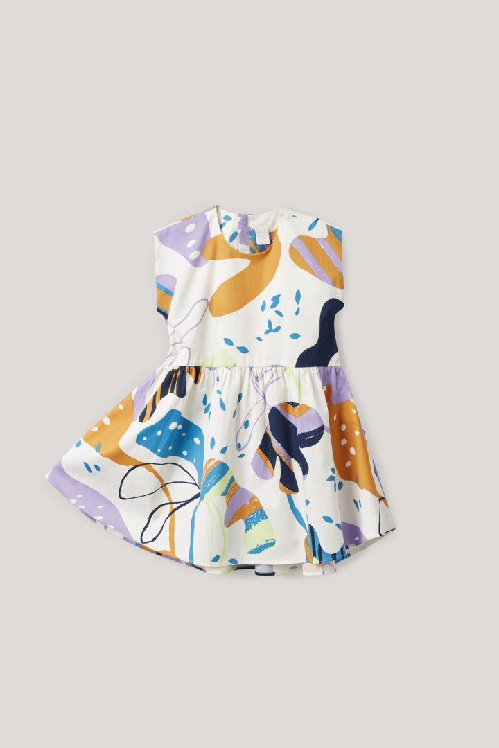 COS hover image 1 of 화이트 in 프린티드 슬리브리스 드레스