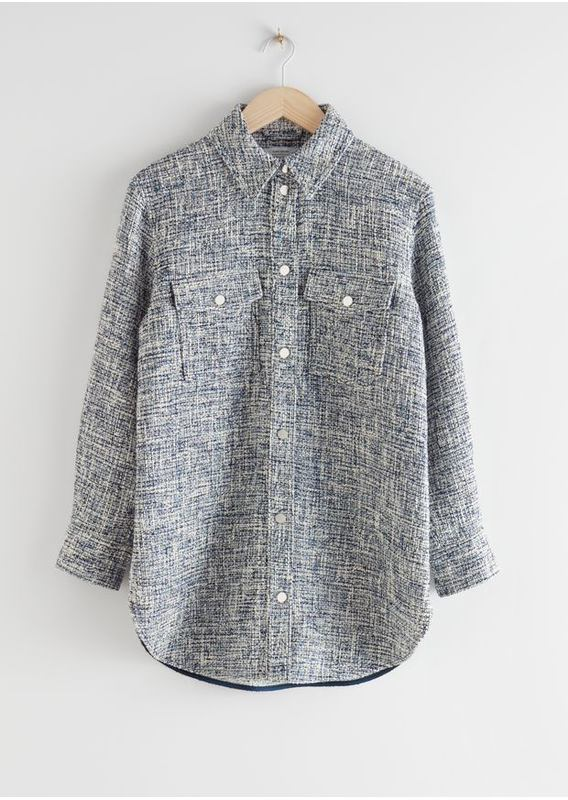&OS image 0 of  in 오버사이즈 트위드 셔츠 재킷