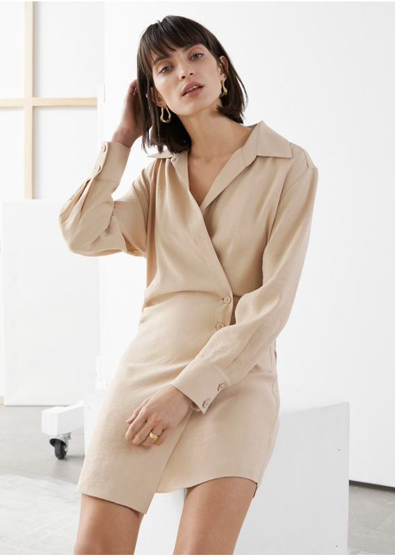 &OS image 19 of  in 에이시메트릭 미니 셔츠 드레스