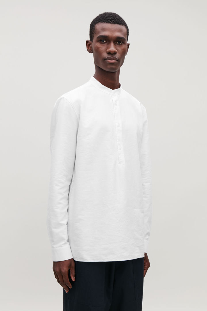 COS default image 4 of 화이트 in 그랜대드 칼라 옥스퍼드 셔츠