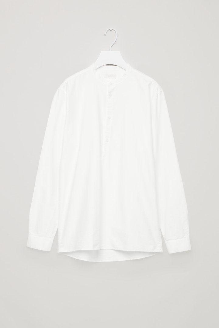COS hover image 4 of 화이트 in 그랜대드 칼라 옥스퍼드 셔츠