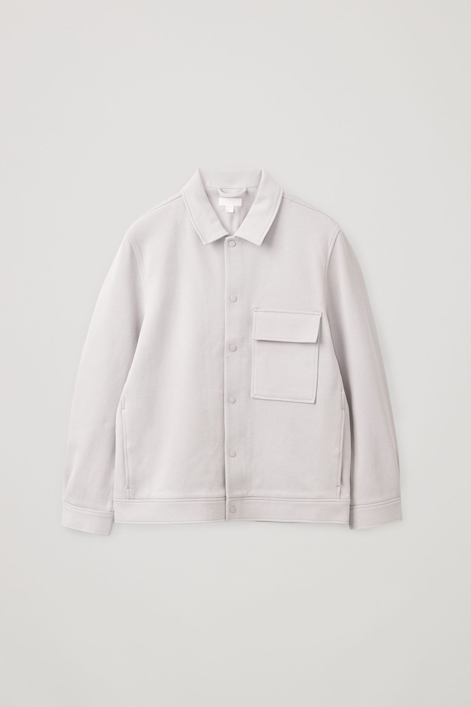 COS 코튼 트윌 셔츠 재킷의 그레이컬러 Product입니다.