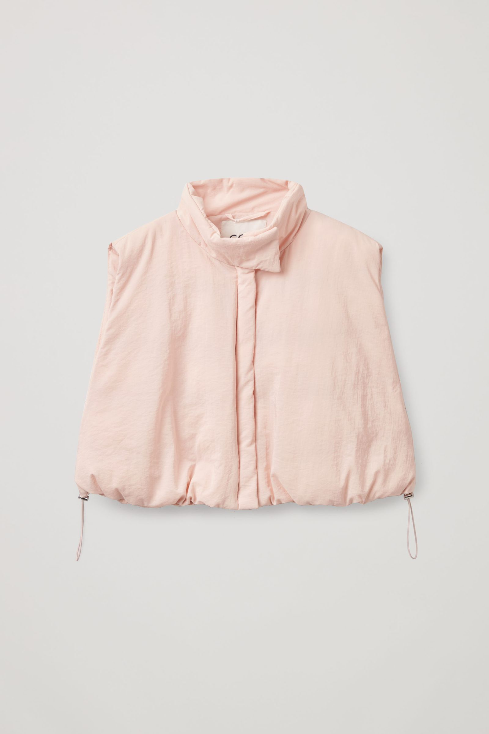 COS 플라워다운™ 하이브리드 패딩 재킷의 더스티 라이트 핑크컬러 Product입니다.