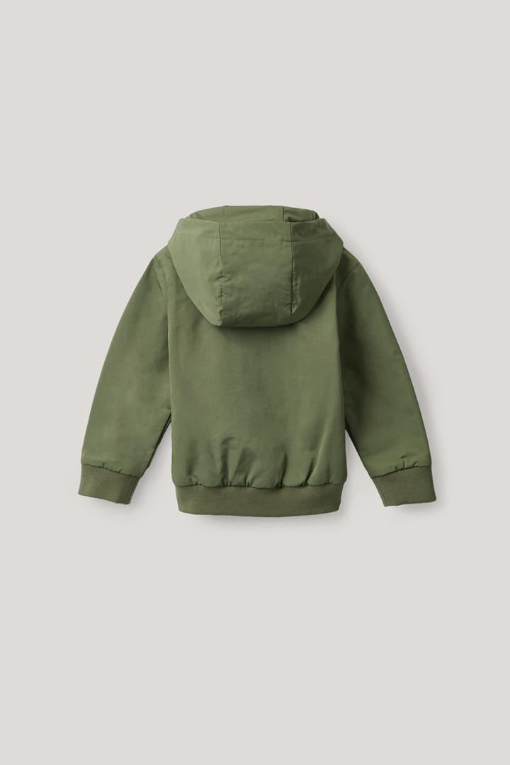 COS 패딩 후디드 재킷의 카키 그린컬러 Product입니다.