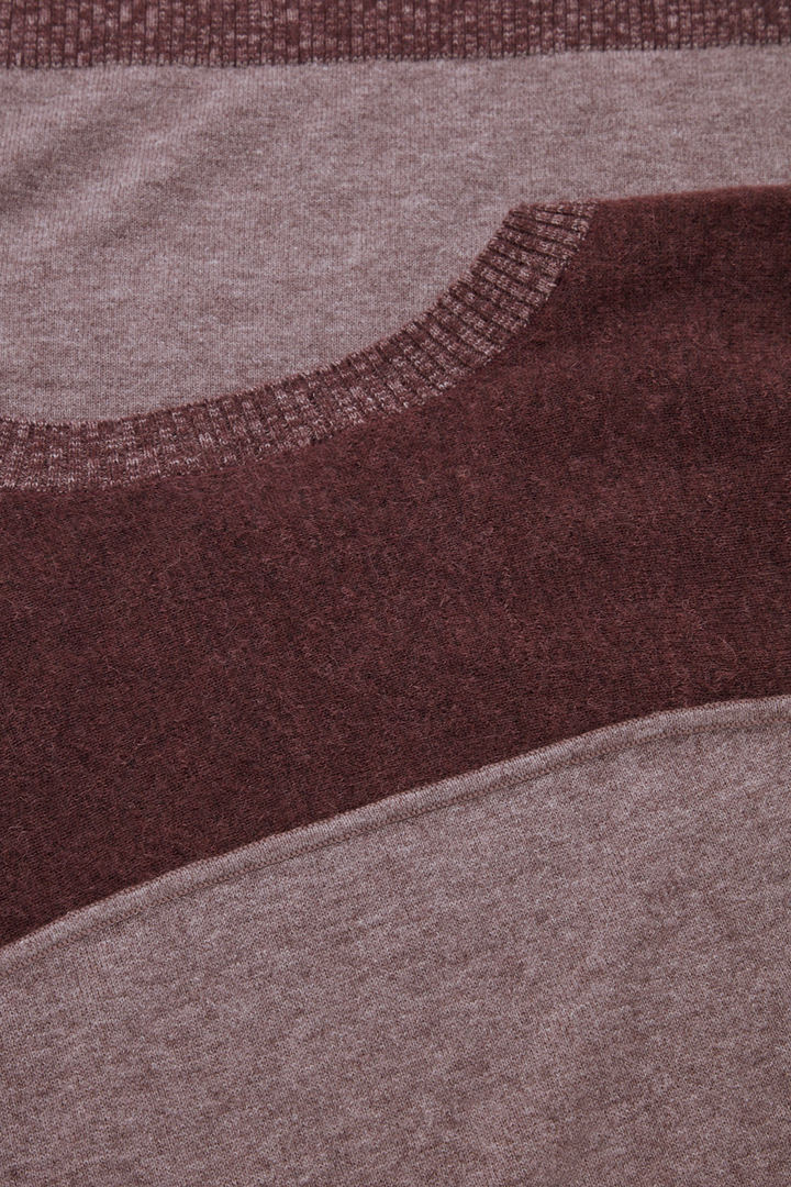 COS 컬러 블록 니티드 드레스의 그레이 / 다크 퍼플컬러 Detail입니다.