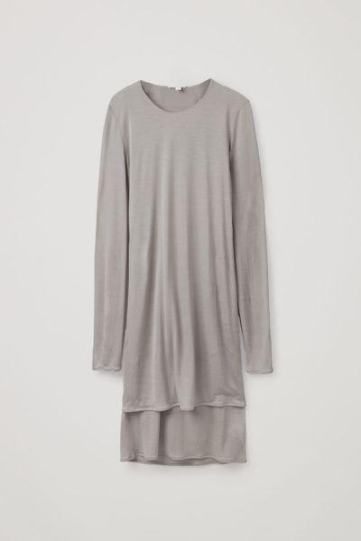 COS default image 5 of  in 더블 레이어 롱 슬리브 드레스