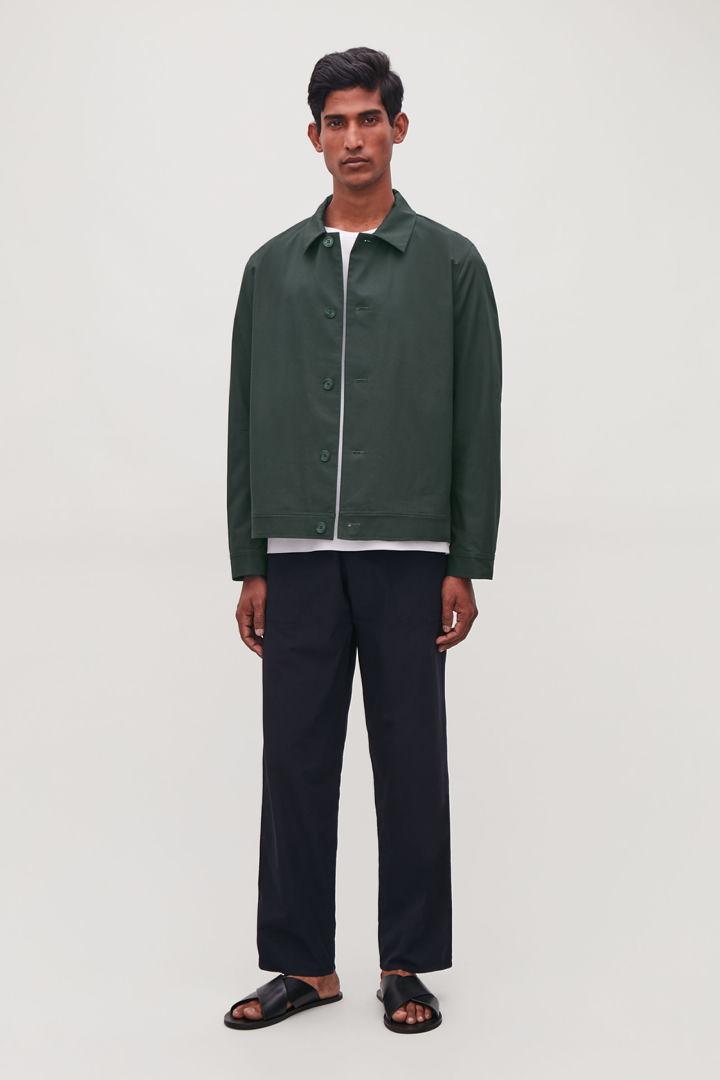 COS default image 4 of 그린 in 버튼업 셔츠 재킷
