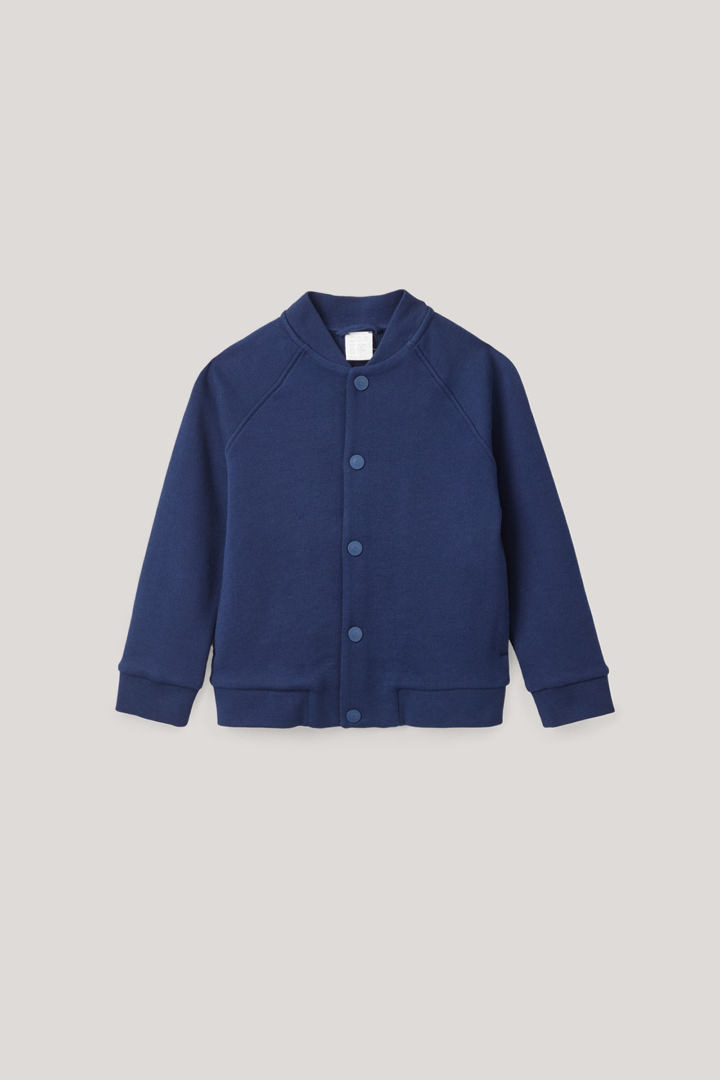 COS default image 4 of 블루 in 엘보우 패치 봄버 재킷