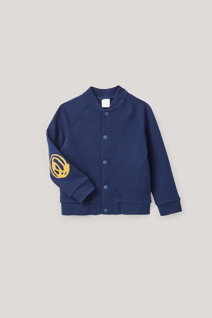 COS hover image 4 of 블루 in 엘보우 패치 봄버 재킷