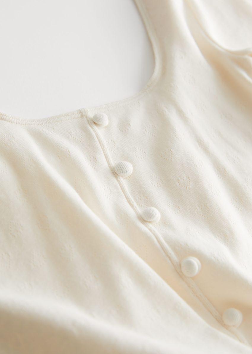 앤아더스토리즈 스쿠프 넥 바디수트의 크림컬러 Detail입니다.