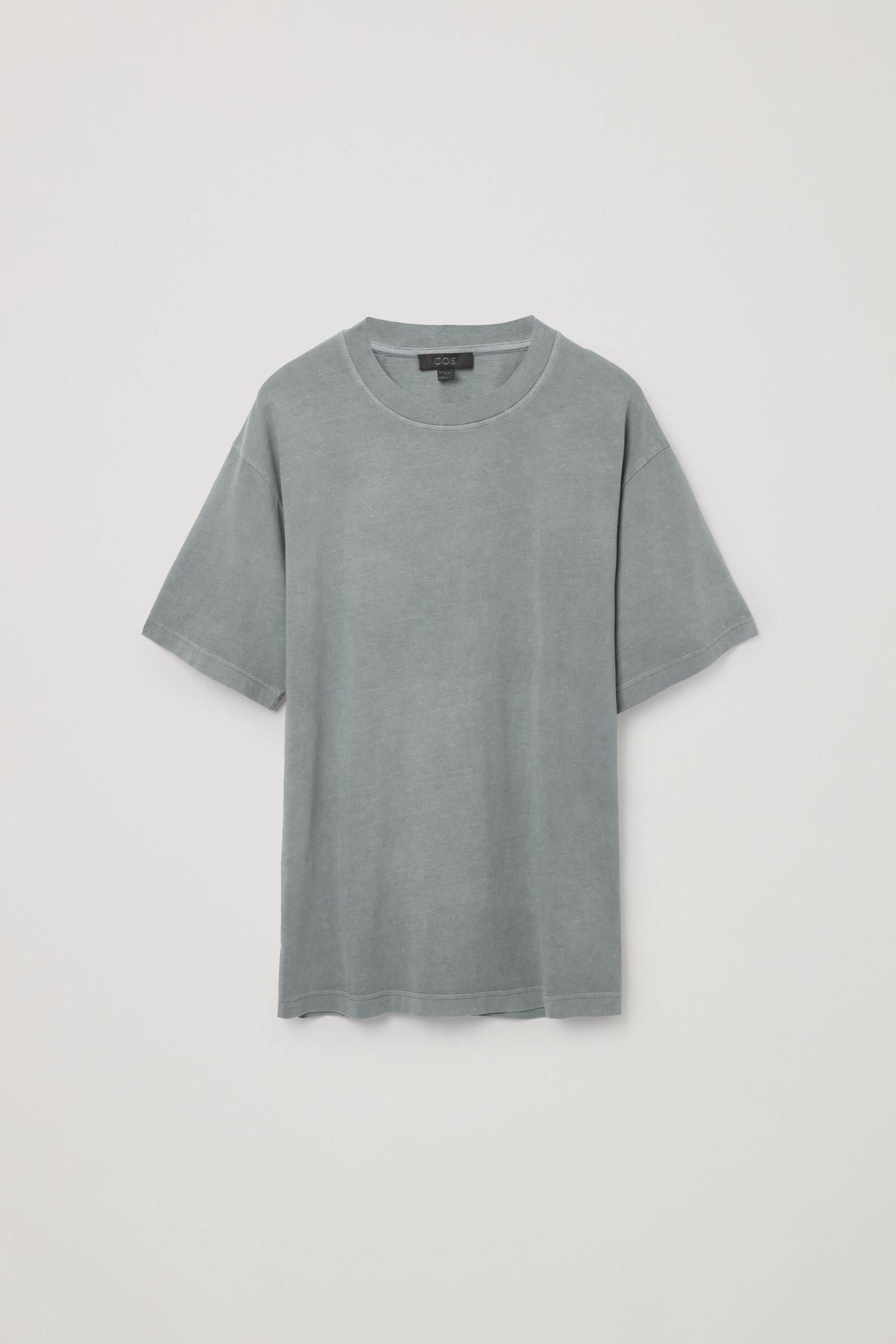 COS 오버사이즈 핏 티셔츠의 블루컬러 Product입니다.