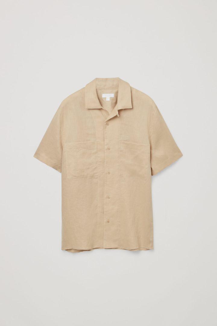 COS hover image 7 of  in 캠프 칼라 쇼트 슬리브 셔츠