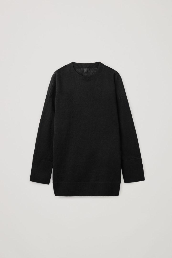 COS hover image 7 of 블랙 in 라이트웨이트 리넨 스웨터