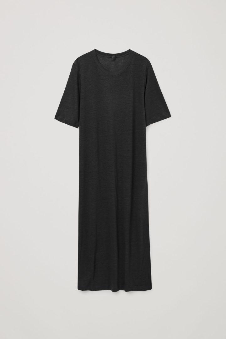 COS 리넨 드레스의 블랙컬러 Product입니다.