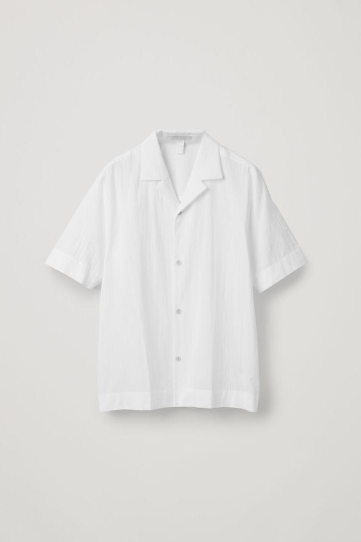 COS hover image 9 of 화이트 in 캠프 칼라 크링클드 코튼 셔츠