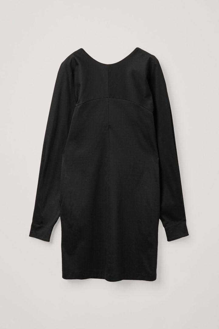 COS hover image 6 of 블랙 in 오가닉 코튼 볼류미너스 슬리브 드레스