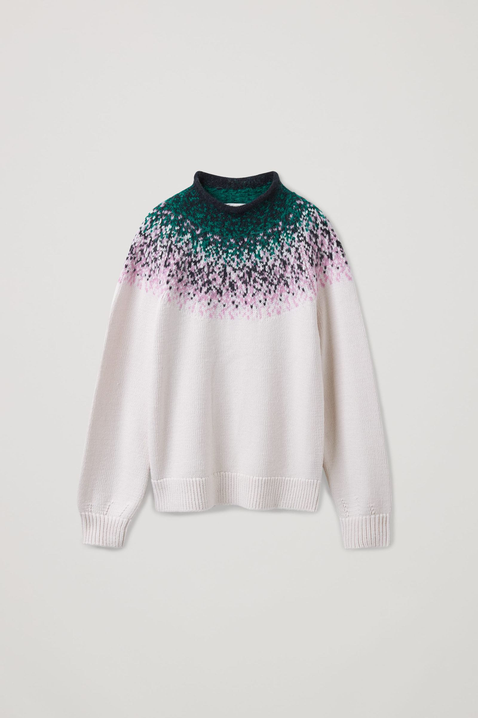 COS 리사이클 울 믹스 페어 아일 니트 스웨터의 멀티컬러컬러 Product입니다.