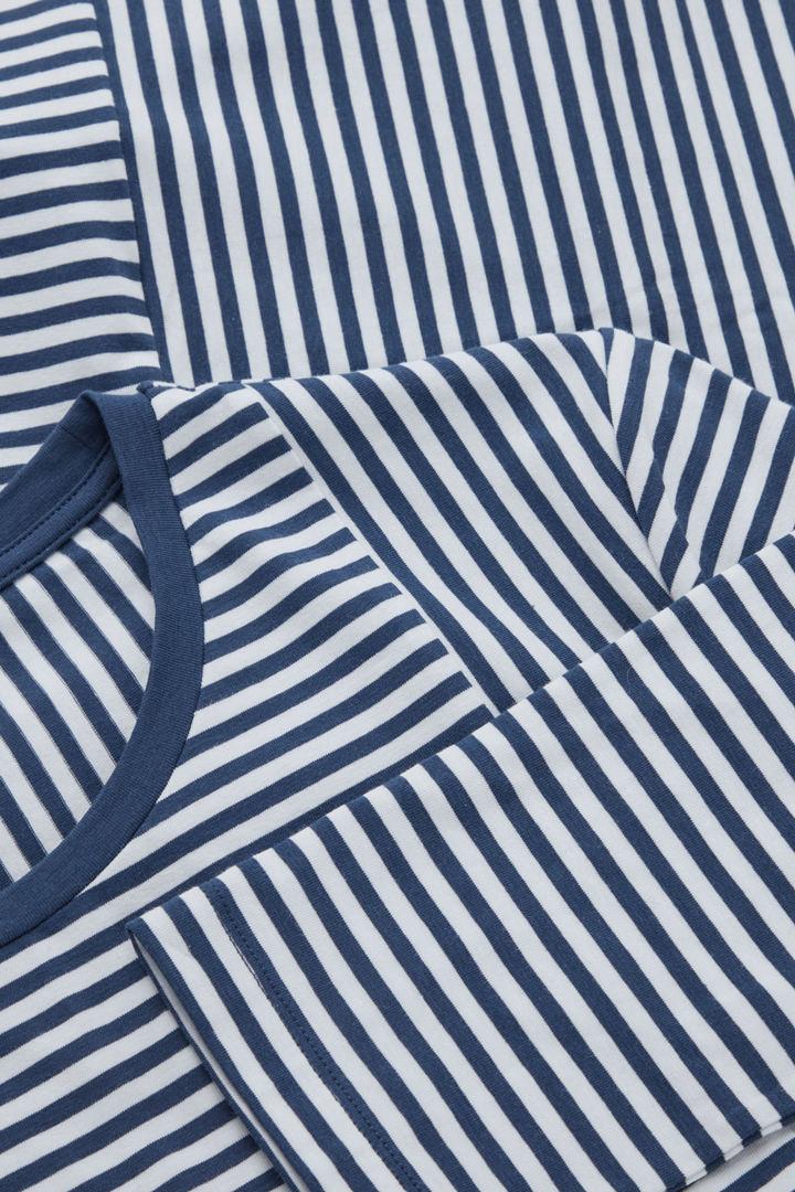 COS 스트라이프 오가닉 코튼 탑의 블루 / 화이트컬러 Detail입니다.