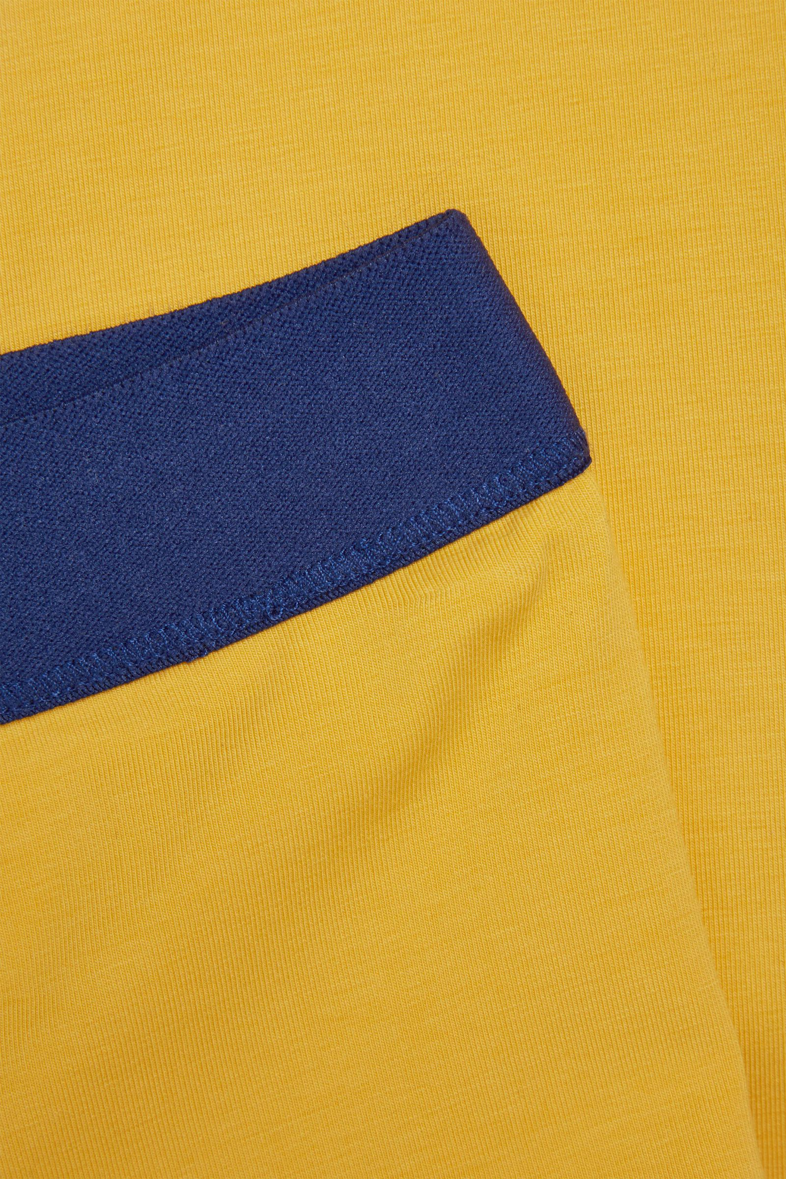 COS 코튼 저지 레깅스의 옐로우 / 네이비컬러 Detail입니다.