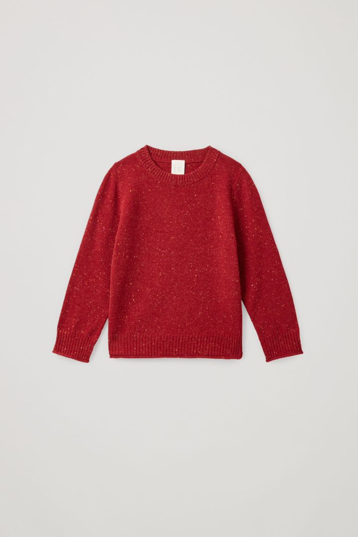 COS 메리노 울 스페클드 니트 스웨터의 레드컬러 Product입니다.