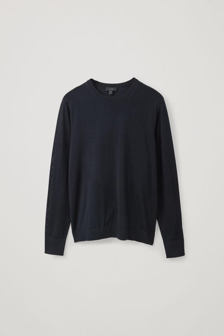 COS hover image 9 of 블루 in 클래식 메리노 스웨터