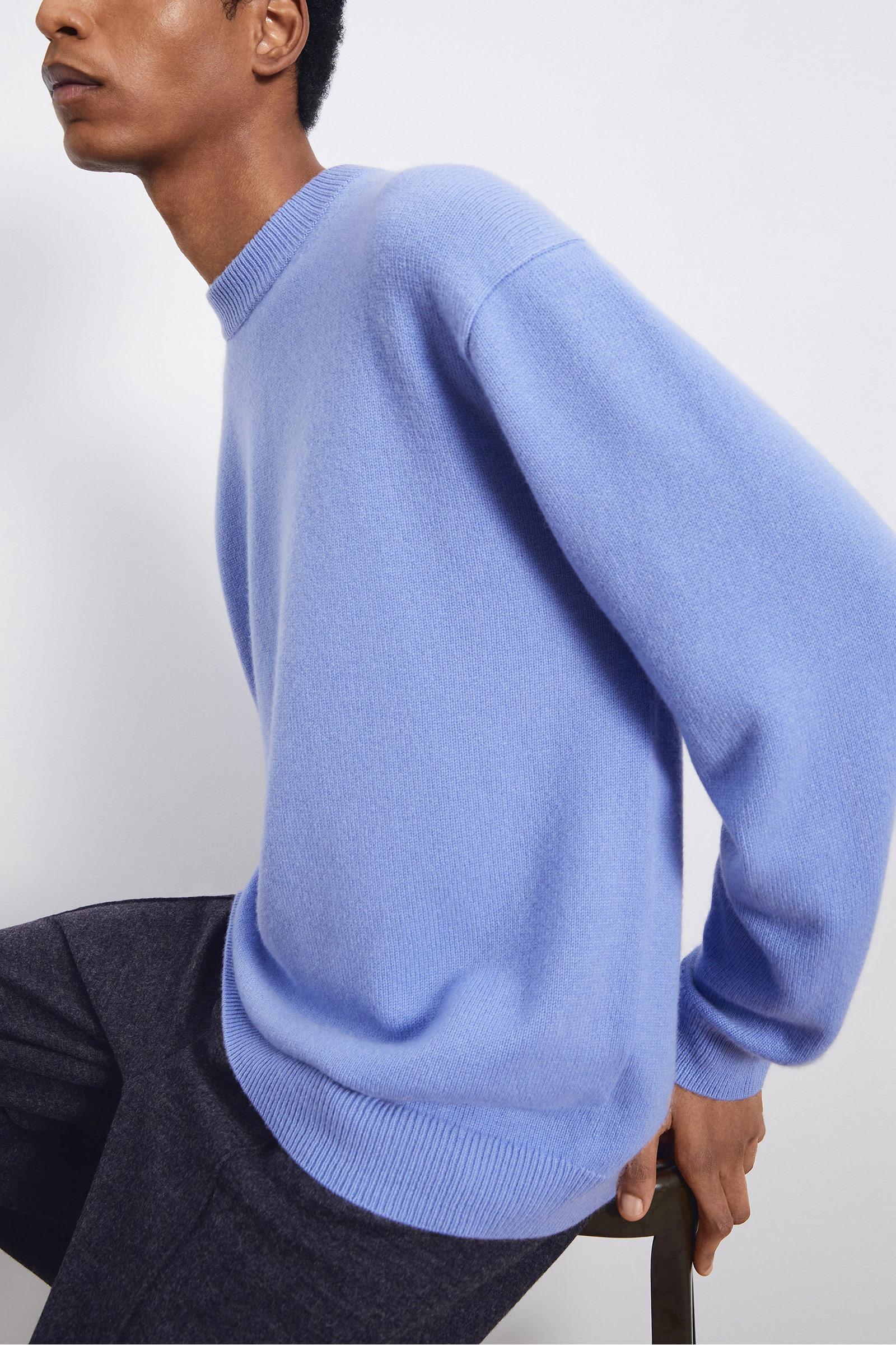 COS 니티드 코튼 메리노 스웨터의 블루컬러 Environmental입니다.