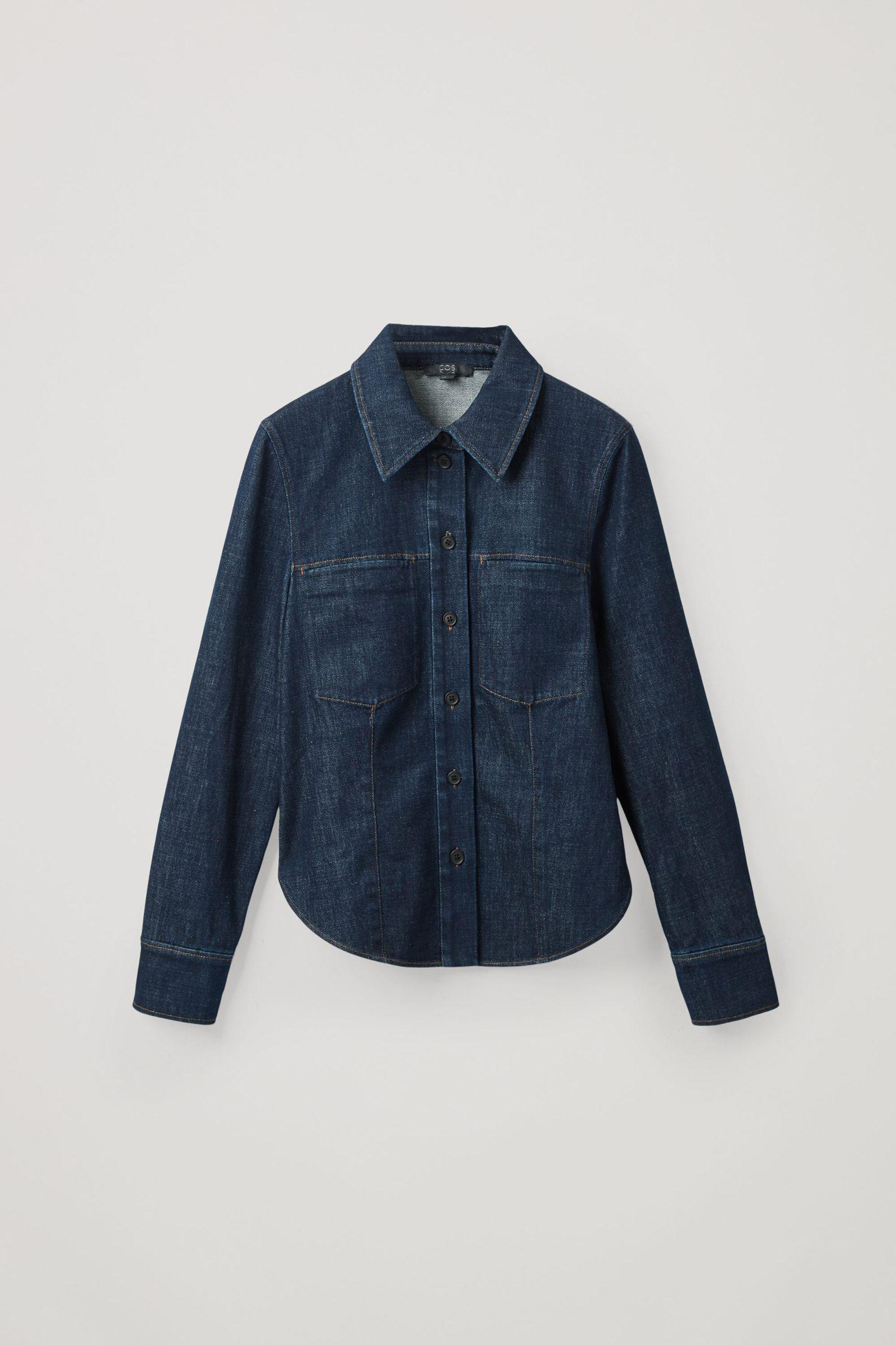 COS 로 데님 오버셔츠의 다크 블루컬러 Product입니다.