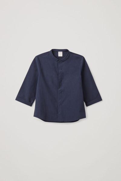 COS default image 5 of 블루 in 그랜대드 칼라 셔츠