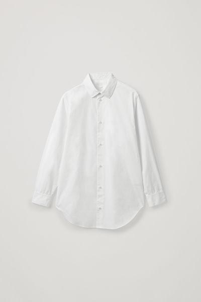 COS default image 2 of 화이트 in 오버사이즈 헤비웨이트 코튼 셔츠