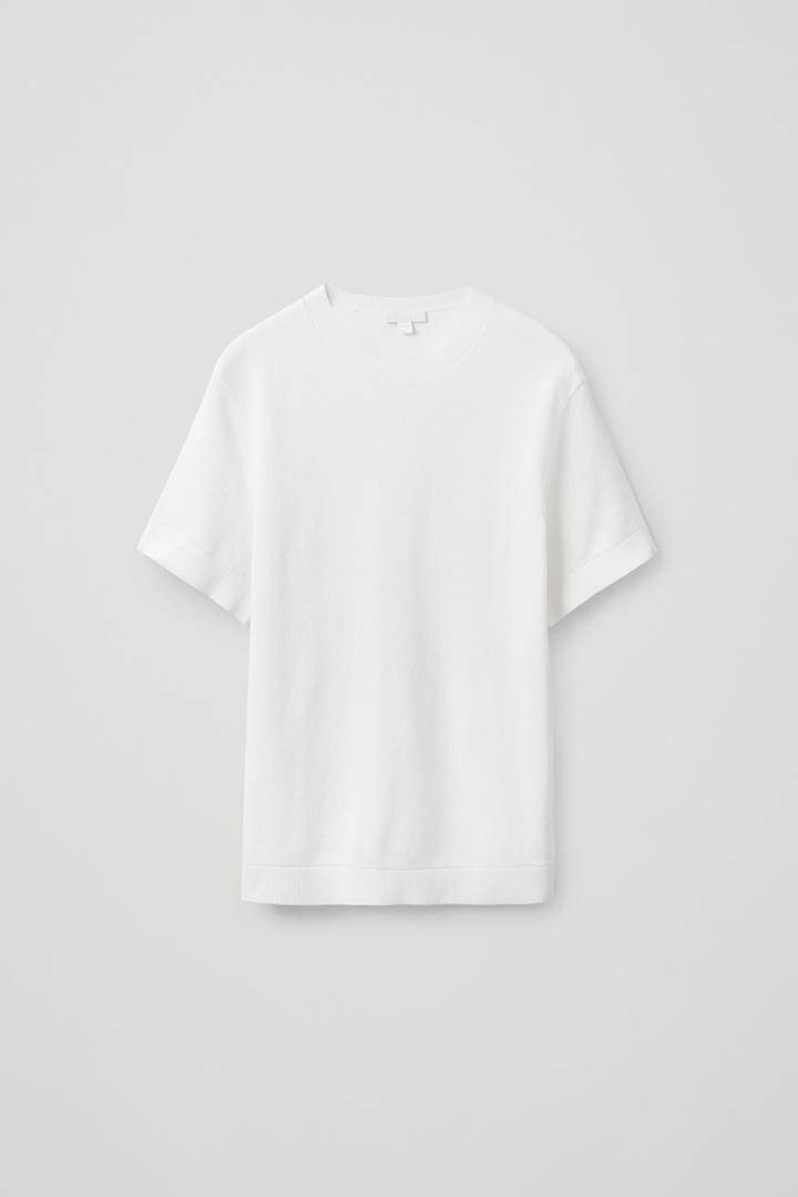 COS hover image 4 of 화이트 in 텍스처드 티셔츠